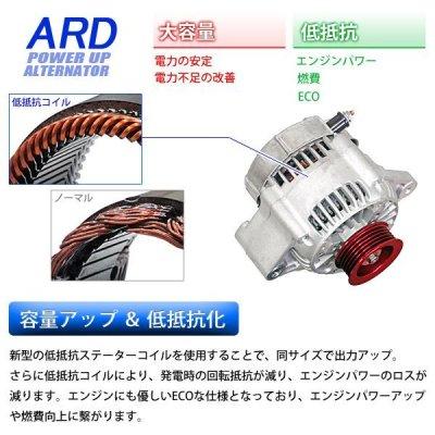 画像1: 【キャンペーン】レビン/トレノ AE86 低抵抗・高出力 オルタネーター 80A *アルミプーリー仕様 レッド
