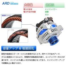 画像2: マークII JZX81 低抵抗・高出力 オルタネーター 130A *アルミプーリー仕様 ブルー 変換コネクタ付属 (2)