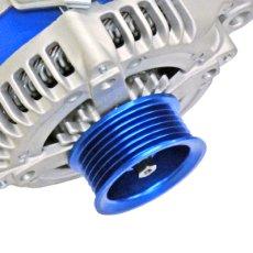 画像6: スープラ JZA80  低抵抗・高出力 オルタネーター 130A *アルミプーリー仕様 ブルー (6)