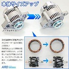 画像2: カプチーノ EA11R 高出力 オルタネーター 70A 鉄プーリー(ブラック) [A-AC013] (2)
