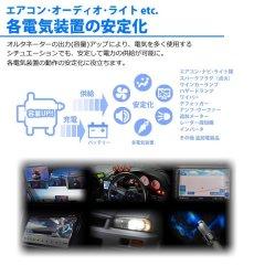 画像2: ジムニー SJ30 高出力 ICオルタネーター 65A  IC変換ハーネスキット付属(CK-01) [021000-8140/6370] *アルミプーリー仕様レッド [A-AC014] (2)
