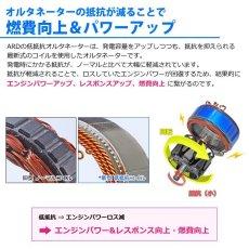 画像7: ジムニー JA11 JA11C JA11V (1型) 低抵抗・高出力 オルタネーター 80A アルミプーリー仕様(レッドアルマイト) [A-AC016] (7)