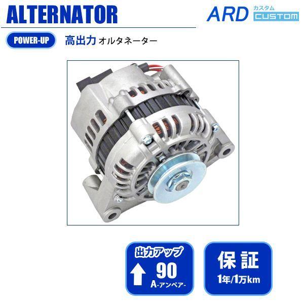 画像1: メルセデス・ベンツ W123 (ガソリン) 高出力オルタネーター 90A 国産改良型 [A-AC011] (1)