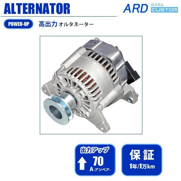 画像1: ローバーミニ(〜1996年・A/C付車)高出力 オルタネーター 70A 国産改良型 [A-AC015] (1)