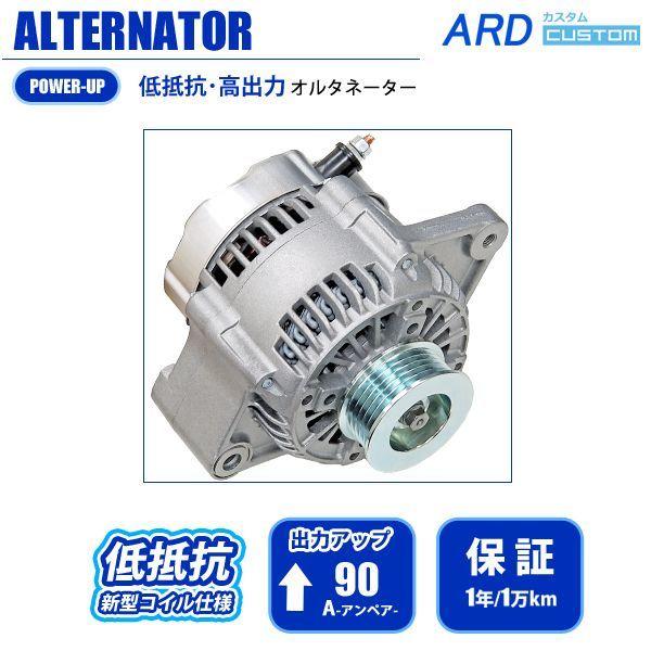 画像1: ハイラックスサーフ RZN185W 低抵抗・高出力 オルタネーター 90A (1)